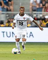KANSAS CITY, KS - JUNE 26: Lester Peltier #18 during a game between Guyana and Trinidad