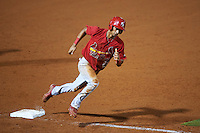 Palm Beach Cardinals center fielder Oscar Mercado (21) running the bases during a game against the Bradenton Marauders on August 9, 2016 at McKechnie Field in Bradenton, Florida.  Bradenton defeated Palm Beach 8-7.  (Mike Janes/Four Seam Images)