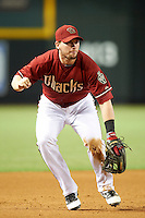 Arizona Diamondbacks third baseman Chris Johnson #28 during a National League regular season game against the Colorado Rockies at Chase Field on October 3, 2012 in Phoenix, Arizona. Colorado defeated Arizona 2-1. (Mike Janes/Four Seam Images)