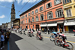 The peloton in action during a sunny Stage 11 of the 2019 Giro d'Italia, running 221km from Carpi to Novi Ligure, Italy. 22nd May 2019<br /> Picture: Fabio Ferrari/LaPresse | Cyclefile<br /> <br /> All photos usage must carry mandatory copyright credit (© Cyclefile | Fabio Ferrari/LaPresse)