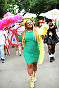 Members of the Baby Doll Sisterhood second line in memory of Baby Doll Tee Eva Perry, who died at 83 on June 7, in New Orleans, La. Monday, June 11, 2018. Joell Lee