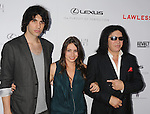 HOLLYWOOD, CA - AUGUST 22: Nick Simmons, Sophie Simmons and Gene Simmons arrive at the 'Lawless' Los Angeles Premiere at ArcLight Cinemas on August 22, 2012 in Hollywood, California. /NortePhoto.com....**CREDITO*OBLIGATORIO** *No*Venta*A*Terceros*..*No*Sale*So*third* ***No*Se*Permite*Hacer Archivo***No*Sale*So*third*