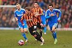 Billy Clarke of Bradford escapes Adam Johnson of Sunderland - Bradford City vs. Sunderland - FA Cup Fifth Round - Valley Parade - Bradford - 15/02/2015 Pic Philip Oldham/Sportimage