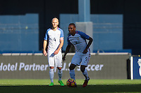 San Diego, CA - Sunday January 29, 2017: Juan Agudelo during an international friendly between the men's national teams of the United States (USA) and Serbia (SRB) at Qualcomm Stadium.