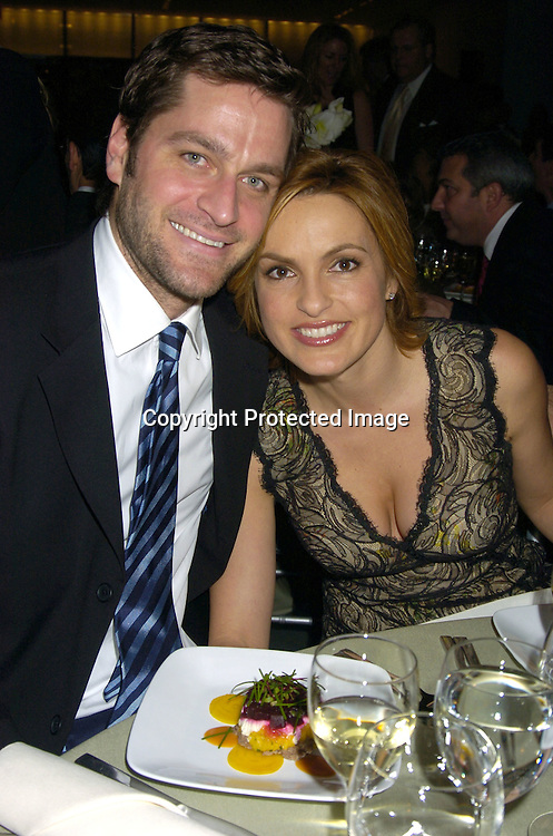 Mariska Hargitay and husband Peter Hermann ..at the NYC and Company dinner honoring leaders in ..Tourism:  including American Express's Ken Chenault, ..NBC Universal's Bob Wright, Nicole Miller and Joseph Spinnato  on December 13, 2004 at the Museum of Modern ..Art. ..Photo by Robin Platzer, Twin Images