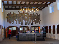 Information und Kasse in der ehemaligen Lohnhalle, Rammelsberg, Museum und Besucherbergwerk, Goslar, Niedersachsen, Deutschland, Europa, UNESCO-Weltkulturerbe<br /> Information and cashier, Rammelsberg - Museum and show mine, Goslar, Lower Saxony,, Germany, Europe, UNESCO Heritage Site
