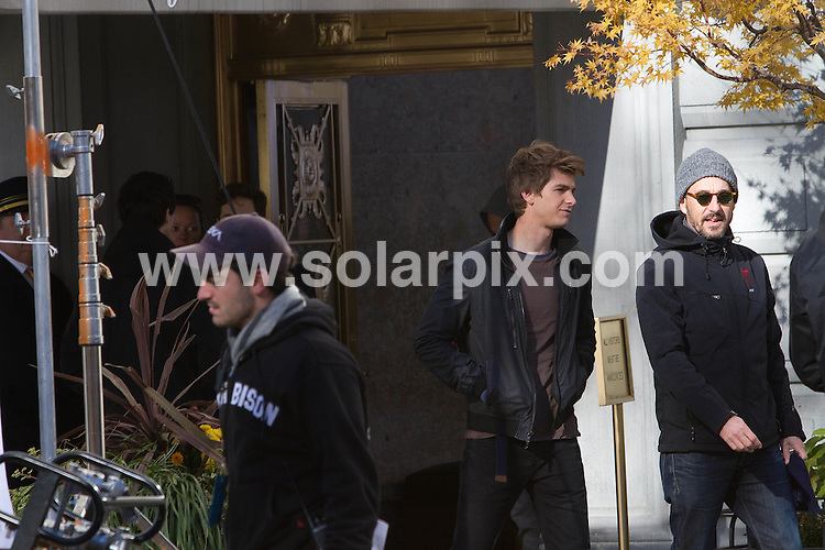 **ALL ROUND PICTURES FROM SOLARPIX.COM**                                             **WORLD SYNDICATION RIGHTS EXCEPT FOR - BELGIUM, DENMARK, FINLAND, GERMANY, HOLLAND, SOUTH AMERICA, SPAIN, SWEDEN, USA & CANADA**                                                                                  Caption: Spiderman set. Fiaona's Tale filming in New York city with British-raised actor Andrew Garfield, 27, who plays Peter Parker in the film.                                                                              This pic: Andrew Garfield                                                                                             JOB REF: 14210       MMP       DATE: 18.11.2011                                                           **MUST CREDIT SOLARPIX.COM OR DOUBLE FEE WILL BE CHARGED**                                                                      **MUST AGREE FEE BEFORE ONLINE USAGE**                               **CALL US ON: +34 952 811 768 or LOW RATE FROM UK 0844 617 7637**