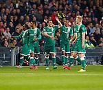 Nederland, Eindhoven, 29 maart 2014<br /> Eredivisie<br /> Seizoen 2013-2014 <br /> PSV-FC Groningen <br /> Filip Kostic (2e van l.) van FC Groningen juicht nadat hij de 2-1 heeft gescoord.