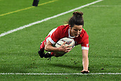 9th June 2017, Westpac Stadium, Wellington, New Zealand; International Womens Rugby; New Zealand versus Canada;  Canada player Elissa Alarie goes for a try