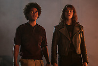 Bumblebee (2018)<br /> Jorge Lendeborg Jr. as Memo and Hailee Steinfeld as Charlie  <br /> *Filmstill - Editorial Use Only*<br /> CAP/MFS<br /> Image supplied by Capital Pictures