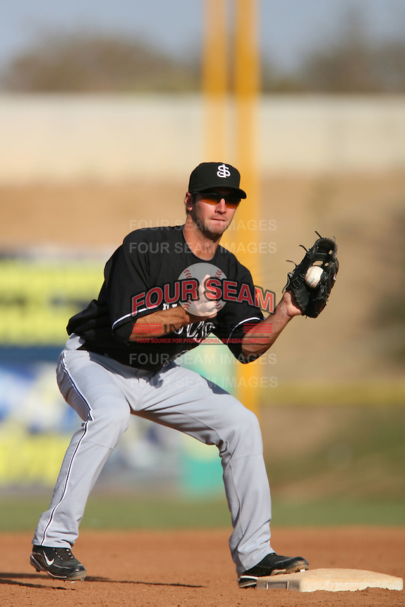 April 26 2009: Nick Noonan of the San Jose Giants during game against the High Desert Mavericks at Mavericks Stadium in Adelanto,CA.  Photo by Larry Goren/Four Seam Images