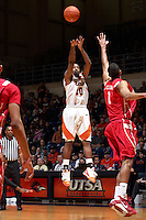 SAN ANTONIO , TX - JANUARY 1, 2010: The University of Houston Cougars vs. The University of Texas At San Antonio Roadrunners Men's Basketball at the UTSA Convocation Center. (Photo by Jeff Huehn)