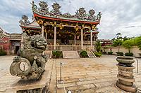 George Town, Penang, Malaysia.  Khoo Kongsi, a Hokkien Chinese Temple and Clan House.