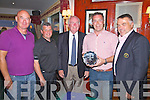 Winners at the Captains Prize in Waterville on Saturday pictured l-r; Aidan McAuliffe(Past Captains Prize 38pts), Noel O'Sullivan 3rd with 43pts, Captain Ted Foley, John Cronin 1st with 44pts, Andrew Cooke 4th with 42ps and missing from photo Vernon Devane 2nd with 44pts.