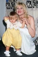 Courtney Love, daughter Frances Bean Cobain, 1993, Photo By Michael Ferguson/PHOTOlink