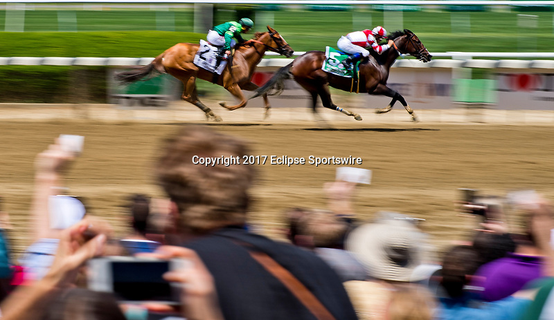 ELMONT, NY - JUNE 10: Songbird #5, ridden by Mike Smith, wins the the Ogden Phipps Stakes on Belmont Stakes Day at Belmont Park on June 10, 2017 in Elmont, New York (Photo by Scott Serio/Eclipse Sportswire/Getty Images)