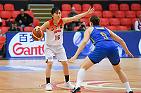 20200206 – OOSTENDE ,  BELGIUM : Japanese Nako Motohashi (15) pictured during a basketball game between the national teams of Japan and Sweden on the first matchday of the FIBA Women's Qualifying Tournament 2020 , on Thursday 6  th February 2020 at the Versluys Dome in Oostende  , Belgium  .  PHOTO SPORTPIX.BE | DAVID CATRY