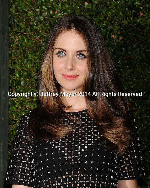 BEVERLY HILLS, CA- OCTOBER 02: Actress Alison Brie arrives at the Michael Kors Hosts Launch Of Claiborne Swanson Frank's 'Young Hollywood' Portrait Book at a private residence on October 2, 2014 in Beverly Hills, California.