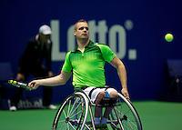 December 189 2014, Rotterdam, Topsport Centrum, Lotto NK Tennis, Maikel Scheffers (NED)<br /> Photo: Tennisimages/Henk Koster
