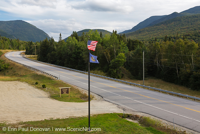 Eisenhower Wayside Park along Route 302 in Carroll, New Hampshire USA.