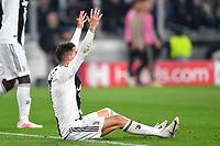 Cristiano Ronaldo of Juventus looks dejected during the Uefa Champions League 2018/2019 round of 8 second leg football match between Juventus FC and Ajax Amsterdam at Juventus stadium, Turin, April 16, 2019 <br />  Foto Andrea Staccioli / Insidefoto