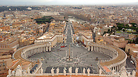 St. Peter's Square in Rome, Italy is seen from the top of St. Peter's Basilica March 2, 2006. (Photo by Alan Greth)