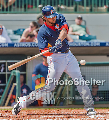 20 March 2015: Houston Astros outfielder Jake Marisnick in Spring Training action against the Washington Nationals at Osceola County Stadium in Kissimmee, Florida. The Astros fell to the Nationals 7-5 in Grapefruit League play. Mandatory Credit: Ed Wolfstein Photo *** RAW (NEF) Image File Available ***