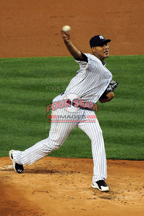New York Yankees pitcher Ivan Nova #47 during ALDS game #5 against the Detroit Tigers at Yankee Stadium on October 06, 2011 in Bronx, NY.  Detroit defeated New York 3-2 to take the series 3 games to 2 games.  Tomasso DeRosa/Four Seam Images