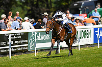Winner of The New Forest Farm Machinery/John Deere Auction Stakes  Oberyn Martell ridden by Charles Bishop and train by Eve Johnson Houghton  during Whitsbury Manor Stud Bibury Cup Day Racing at Salisbury Racecourse on 27th June 2018