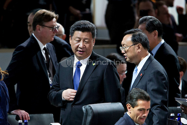 Xi Jinping, China's president, arrives to a closing session at the Nuclear Security Summit in Washington, D.C., U.S., on Friday, April 1, 2016. After a spate of terrorist attacks from Europe to Africa, Obama is rallying international support during the summit for an effort to keep Islamic State and similar groups from obtaining nuclear material and other weapons of mass destruction. <br /> Credit: Andrew Harrer / Pool via CNP/MediaPunch