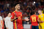 Spain's Marcos Asensio have words with the referee during UEFA Nations League 2019 match between Spain and England at Benito Villamarin stadium in Sevilla, Spain. October 15, 2018. (ALTERPHOTOS/A. Perez Meca)
