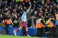 Pablo Zabaleta of West Ham United throws his shirt to the fans during Chelsea vs West Ham United, Premier League Football at Stamford Bridge on 30th November 2019