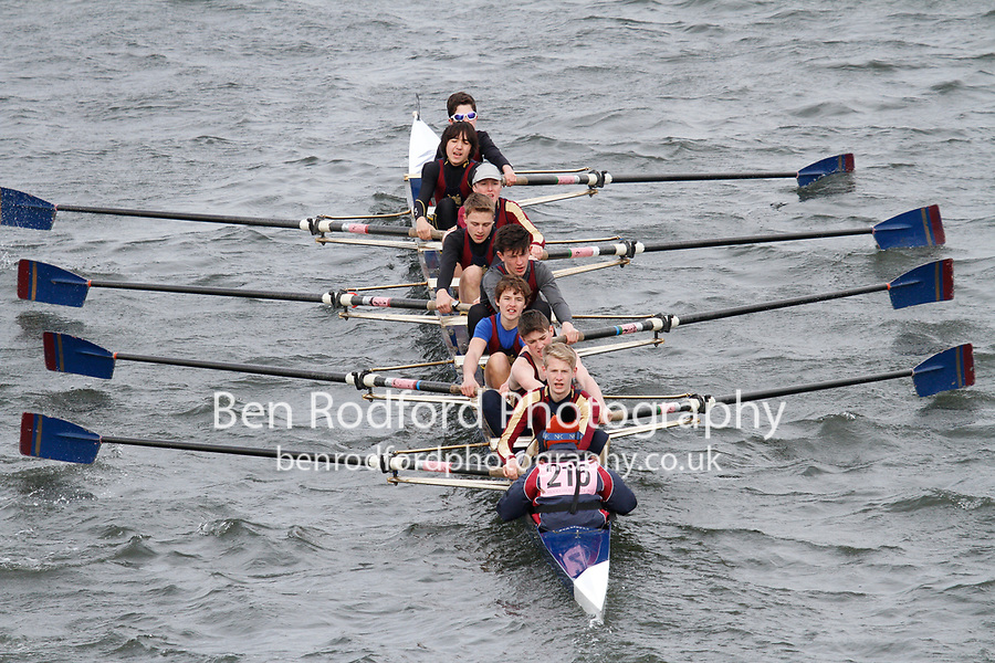 Crew: 216  Norwich Sch  Event: J15 School 2nd eights<br /> <br /> Schools' Head of the River 2017<br /> <br /> To purchase this photo, or to see pricing information for Prints and Downloads, click the blue 'Add to Cart' button at the top-right of the page.