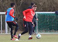 Taleb Tawatha (Eintracht Frankfurt) gegen Aymen Barkok (Eintracht Frankfurt) - 06.03.2018: Eintracht Frankfurt Training, Commerzbank Arena