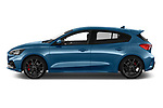 Car driver side profile view of a 2019 Ford Focus ST Base 5 Door Hatchback