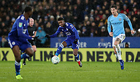 Leicester City 's Demarai Gray crosses<br /> <br /> Photographer Andrew Kearns/CameraSport<br /> <br /> English League Cup - Carabao Cup Quarter Final - Leicester City v Manchester City - Tuesday 18th December 2018 - King Power Stadium - Leicester<br />  <br /> World Copyright © 2018 CameraSport. All rights reserved. 43 Linden Ave. Countesthorpe. Leicester. England. LE8 5PG - Tel: +44 (0) 116 277 4147 - admin@camerasport.com - www.camerasport.com