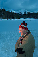 Dr. William Gray, a professor emeritus of Colorado State University, poses in snow atop Cameron Pass in the Rockies of northern Colorado. Gray argues that currently rising global temperatures are part of a repeating pattern, and that temperatures will drop again over the coming 20 years.