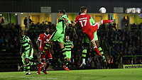 Paul Downing of MK Dons tries to flick the ball into the Forest Green Rovers goalmouth during Forest Green Rovers vs MK Dons, Caraboa Cup Football at The New Lawn on 8th August 2017