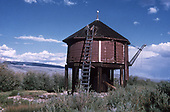 A half-height water tank at Castleton on abandoned Baldwin branch.<br /> D&amp;RGW/C&amp;S  Castleton - Baldwin Branch, CO