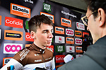Romain Bardet (FRA) AG2R La Mondiale at the team presentation before the start of the 105th edition of Liège-Bastogne-Liège 2019, La Doyenne, running 256km from Liege to Liege, Belgium. 27th April 2019<br /> Picture: ASO/Gautier Demouveaux | Cyclefile<br /> All photos usage must carry mandatory copyright credit (© Cyclefile | ASO/Gautier Demouveaux)