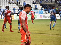 MONTERIA - COLOMBIA, 20-08-2018: Wilson Morelo, jugador de Santa Fe, en acción durante partido entre Jaguares de Córdoba y Independiente Santa Fe por la fecha 5 de la Liga Águila II 2018 jugado en el estadio Municipal de Montería. / Wilson Morelo, player of Sante Fe, in action during the match between Jaguares of Cordoba and Independiente Santa Fe for the date 5 of the Liga Aguila II 2018 at the Municipal de Monteria Stadium in Monteria city. Photo: VizzorImage / Andres Felipe Lopez / Cont