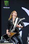 HALESTORM - vocalist and guitarist Lzzy Hale -  performing live on Day Three on the Lemmy Stage at the Download Festival at Donington Park UK - 12 Jun 2016.  Photo credit: Zaine Lewis/IconicPix