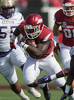 HAWGS ILLUSTRATED JASON IVESTER<br /> Arkansas against Alcorn State on Saturday, Oct. 1, 2016, at War Memorial Stadium in Little Rock.