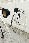 The Tweed Run London UK. Penny Farthings bikes.