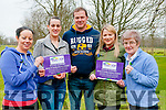 Cystic Fibrosis Fundaraiser : Pictured to announce the upcoming 6.5K Run/Walk to be held at the Listowel Community Centre on the 24th April starting at 1.00pm in aid of new Cystic Fibrosis unit at Limerick University Hospital were Charlene & Michell Tydings, Ger Foley, Alice Martin & Nell McCarthy.