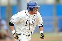 2 May 2010:  FIU's Jeremy Patton (22) runs to first base in the first inning as the University of Louisiana-Monroe Warhawks defeated the FIU Golden Panthers, 8-7 in 11 innings, at University Park Stadium in Miami, Florida.