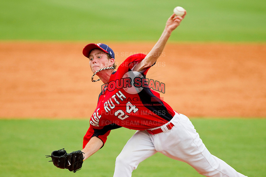Kyle Twomey #24 of Babe Ruth in action against AABC at the 2011 Tournament of Stars at the USA Baseball National Training Center on June 26, 2011 in Cary, North Carolina.  Babe Ruth defeated AABC 3-2 in the Gold Medal game. (Brian Westerholt/Four Seam Images)