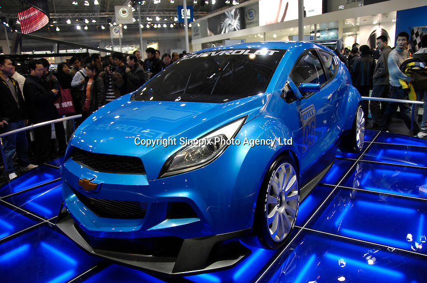 Chevrolet WTCC Ultra concept race car at the 2006 International Automotive Exhibition in Beijing, China. .25 Nov 2006