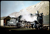 3/4 view of D&amp;RGW #498 at Durango.<br /> D&amp;RGW  Durango, CO