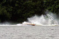 Frame 7: Marissa Affholder(151-M) races into turn 2 chasing 17-M and flips over. (stock outboard runabout)